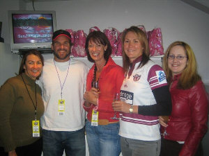 Annie with Shelley Taylor-Smith, Pat Rafter and Debbie Watson