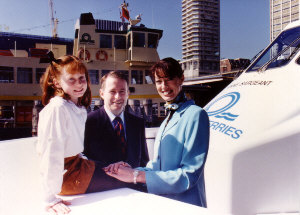 "Annie and Kendall .. launch of the ""Anne Sargeant"" Ferry"