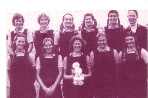 Met. North Schoolgirl Rep. Team (Anne far left bottom row)