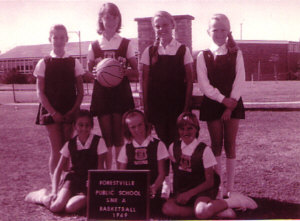 Forestville Public School Netball Team (Annie top row, second left)